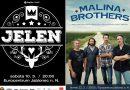 SOUTĚŽ: vstupenky na koncerty kapel JELEN a MALINA BROTHERS
