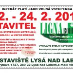 Přijďte na výstavu Stavitel a Ligna Bohemia do Lysé. Konat se bude od 22. do 24. února