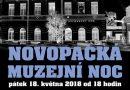 18. 5. • NOVOPACKÁ MUZEJNÍ NOC aneb Muzeum vjiný čas – Muzeum Nová Paka