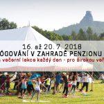 16. – 20. 7. • LETNÍ JÓGOVÁNÍ V ČESKÉM RÁJI: ranní a večerní cvičení jógy pro veřejnost – Zahrada Penzionu Recall