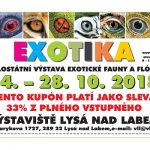 24. – 28. 10. • EXOTIKA 2018 – Výstaviště Lysá nad Labem + KUPON NA SLEVU NA VSTUPNÉ