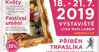 18. – 21. 7. • KVĚTY & FESTIVAL UMĚNÍ – Výstaviště Lysá nad Labem + sleva na vstupné s Českým rájem v akci