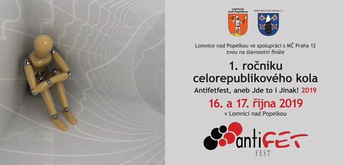 Antifetfest v Lomnici nad Popelkou proběhne 17. října
