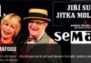24. 11. • LEGENDY SEMAFORU – Jiří Suchý, Jitka Molavcová, orchestr divadla Semafor – KC Golf Semily