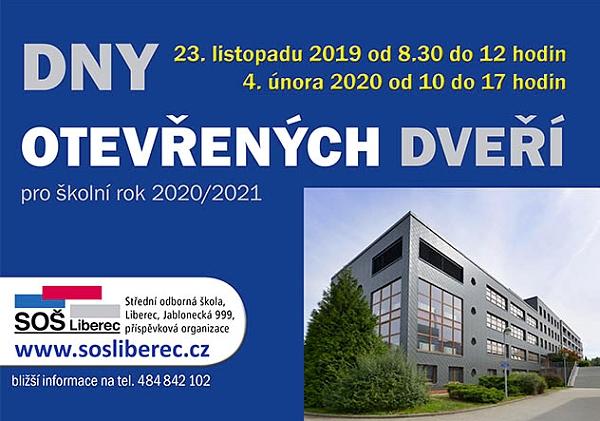 23. 11. • DEN OTEVŘENÝCH DVEŘÍ – SOŠ Liberec