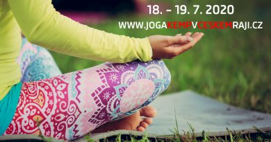 18. – 19. 7. • Jóga kemp v Českém ráji 2020 – zahrada Penzionu Recall, Troskovice