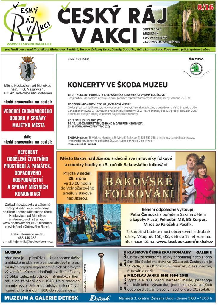 český ráj v akci - srpen 2016 - titulní strana