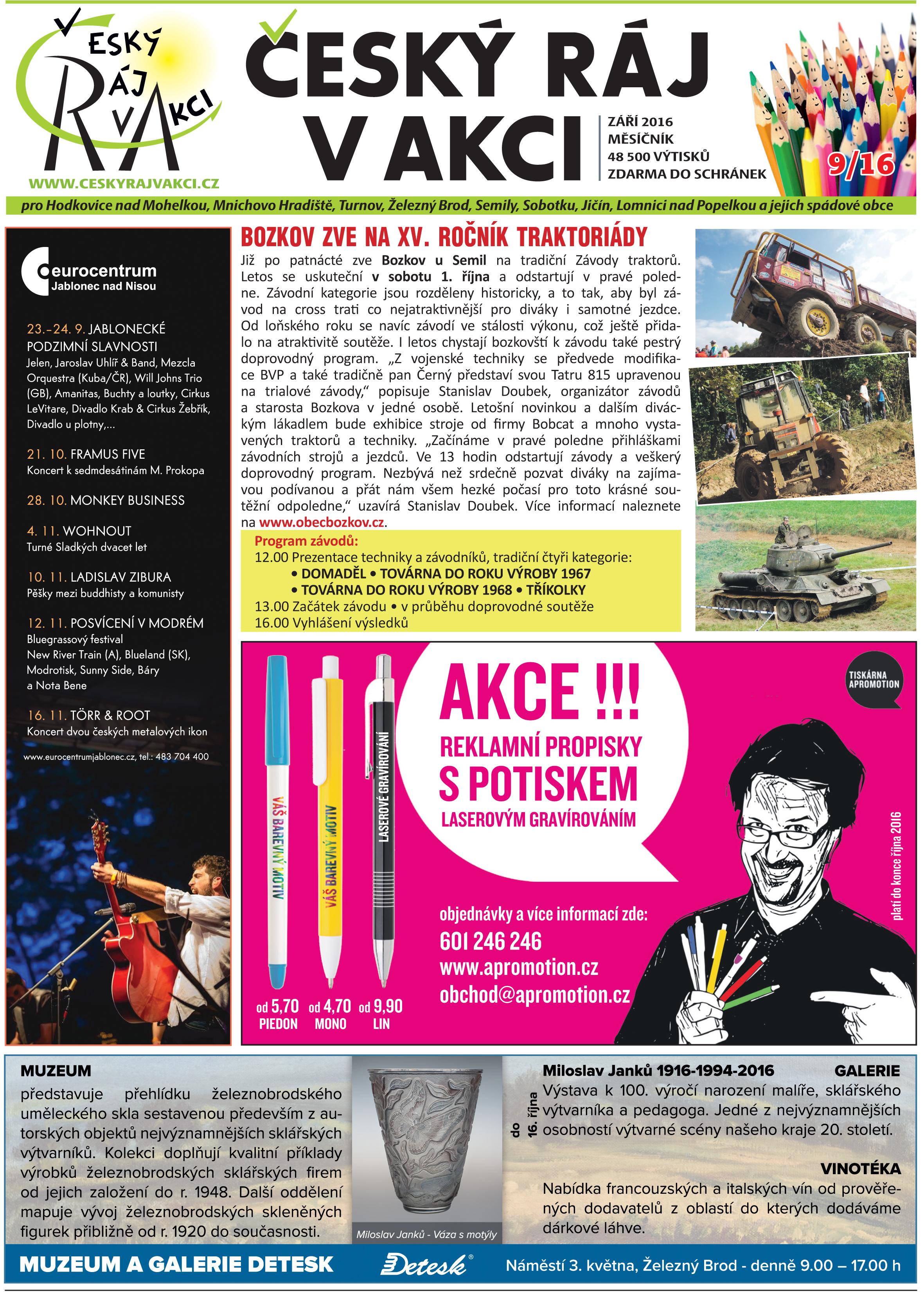 český ráj v akci - září 2016
