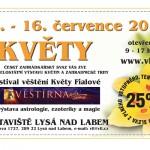 13. – 16. 7. KVĚTY A FESTIVAL VĚŠTĚNÍ – Lysá nad Labem (slevový kupón na vstupné s ČRVA)