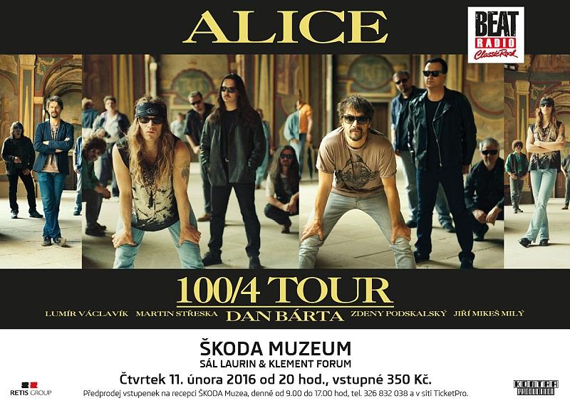 dan barta alice 1004 tour - plakát - Škoda Muzeum - český ráj v akci