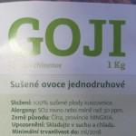 Přes 2 tuny sušeného ovoce Goji z Číny obsahovalo zakázané pesticidy Carbofurany