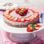 Jahodový cheesecake – raw