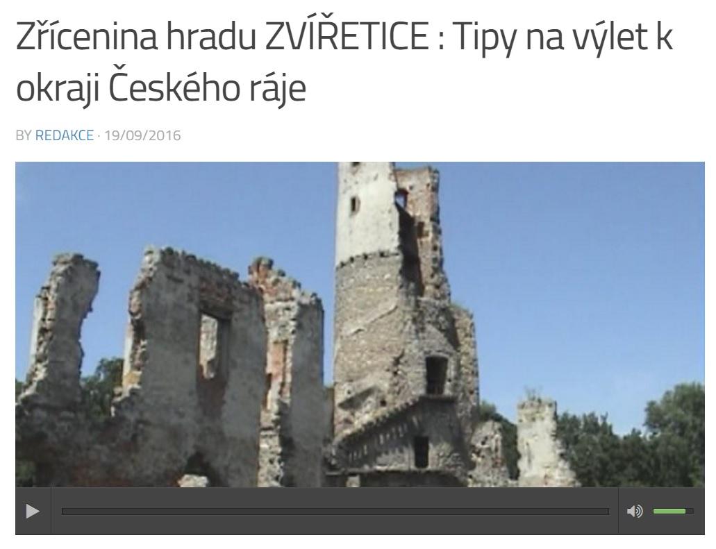 Zřícenina hradu ZVÍŘETICE : Tipy na výlet k okraji Českého ráje s RÁDIEM JASPIS