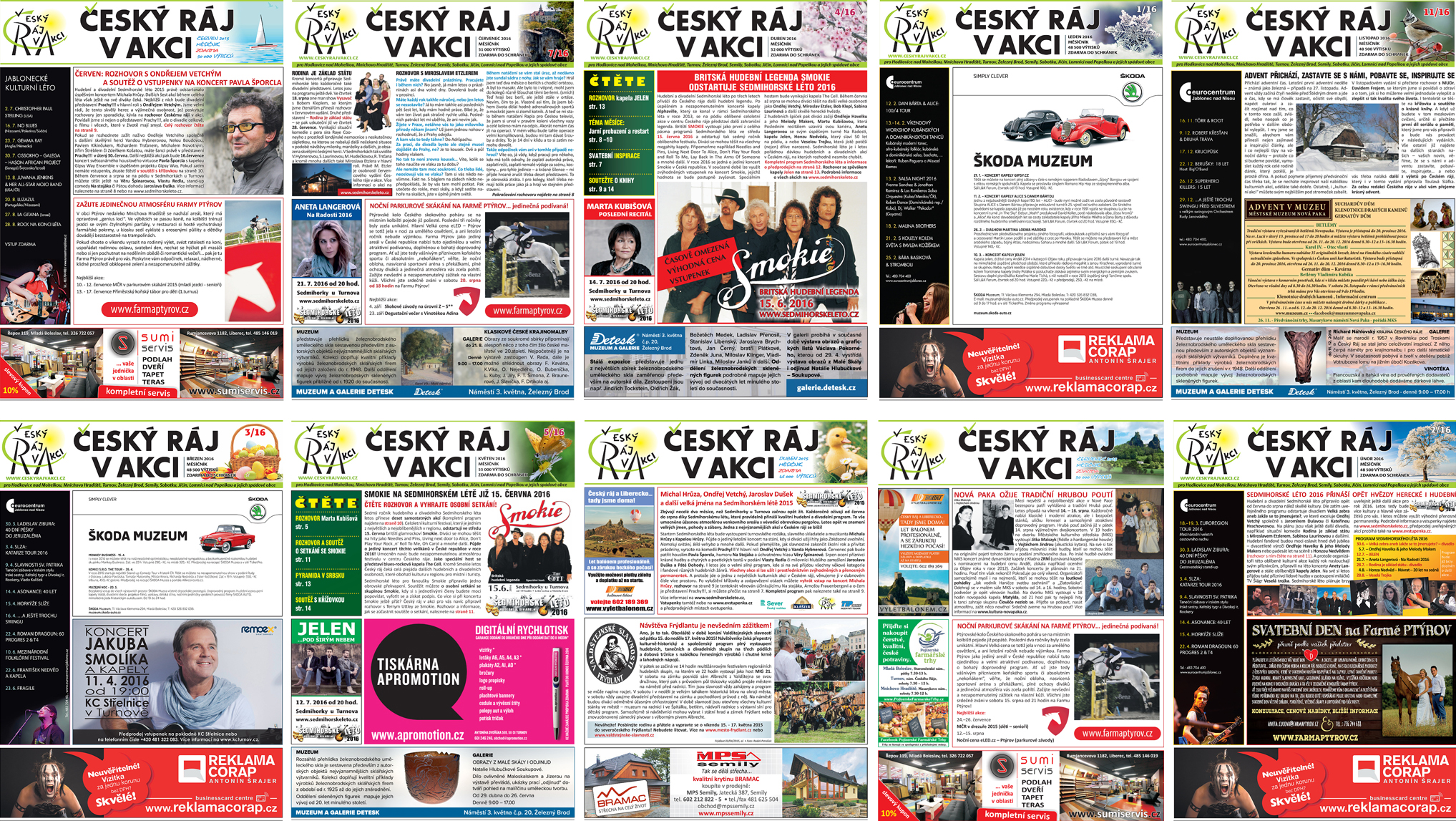 český ráj v akci - vydání novin - distribuce - do schránky
