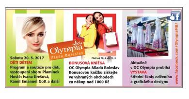 V OC Olympia můžete využít bonusovou knížku a získat tak velmi zajímavé slevy na vaše nákupy!