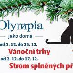 2. – 23. 12. • Strom přání, vánoční trhy, balení dárků zdarma – VÁNOČNÍ OLYMPIA Mladá Boleslav