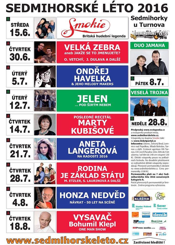 sedmihorské léto 2016 program akce - český ráj v akci