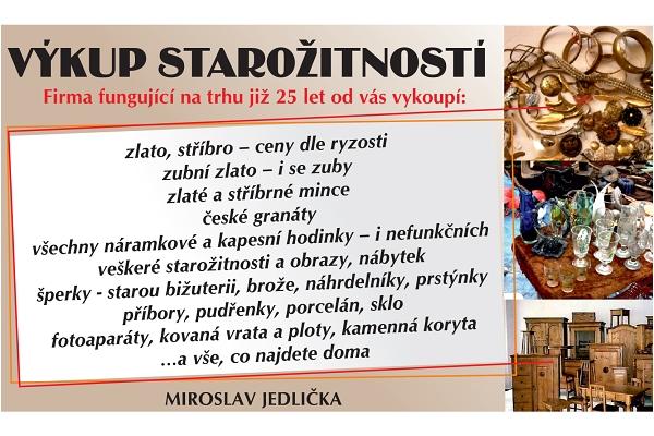 výkup starožitností - český ráj v akci